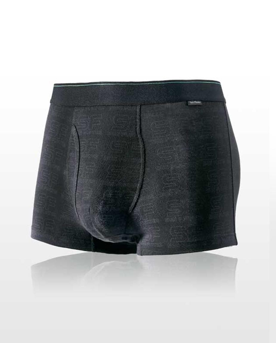 【三花】彈性貼身平口褲.四角褲.男內褲-SF神秘黑 6655